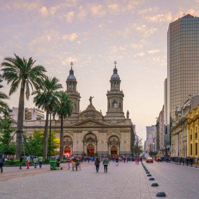 Plaza,De,Las,Armas,Square,In,Santiago,,Chile